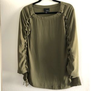 Greylin Army Green blouse size small